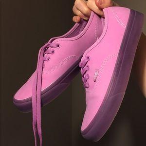 Violet Vans (Translucent Rubber) Low-Top